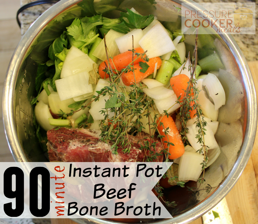 Easy Instant Pot Beef Bone Broth