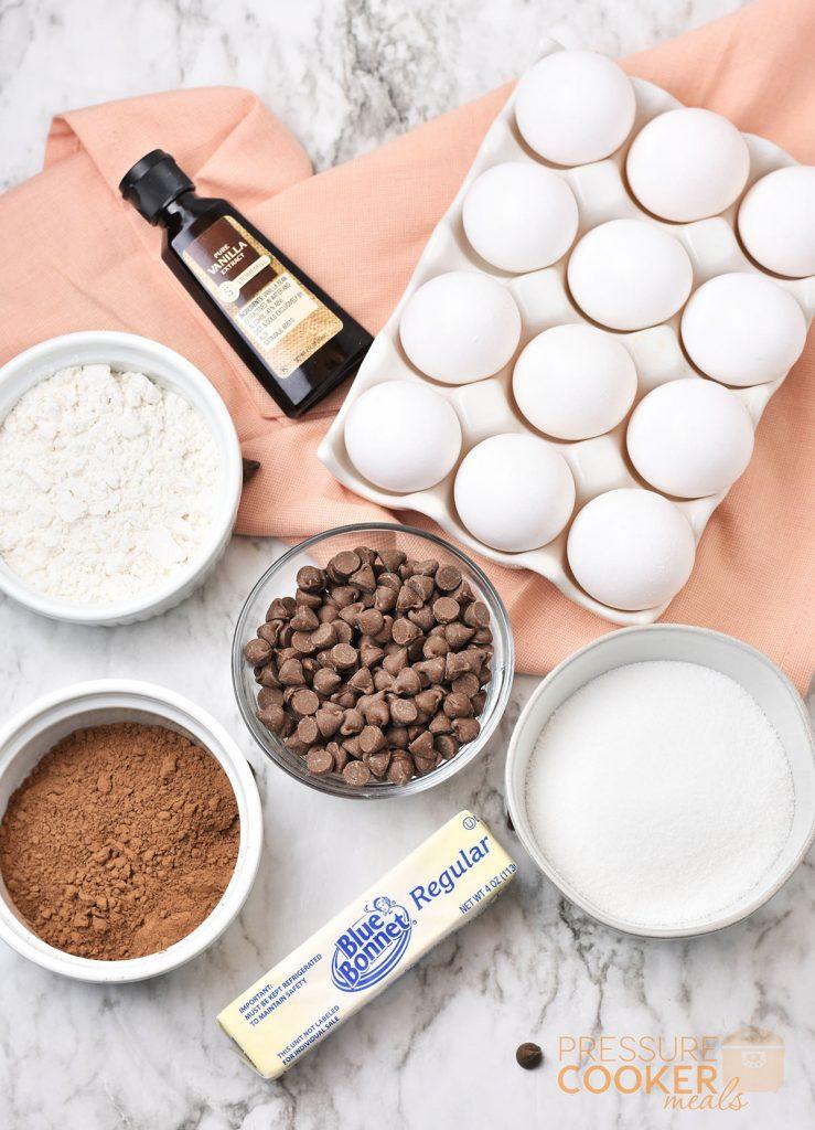 Instant Pot Brownie Cake recipe ingredients