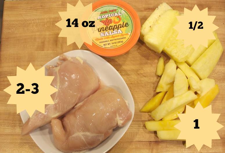 Mango Pineapple Instant Pot Chicken