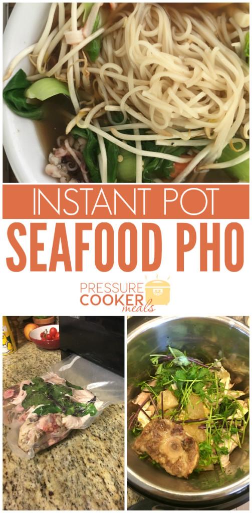 Instant Pot Seafood Pho Soup
