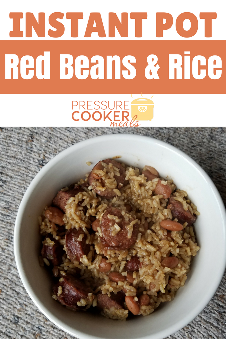 Instant Pot Red Beans & Rice is a fast and easy meal that is budget friendly and delicious! Make this simple meal in under an hour!