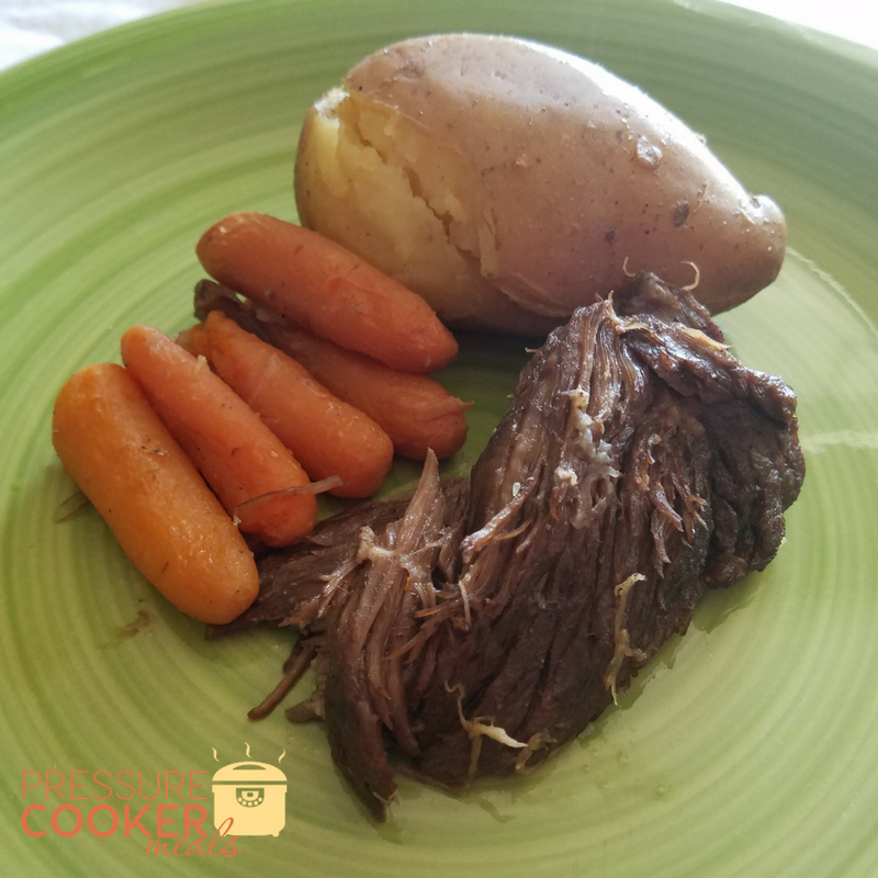 Pressure Cooker Roast Beef & Vegetables is a great easy to make Instant Pot Roast Recipe that everyone will love! Ready in under an hour it's a family fave!