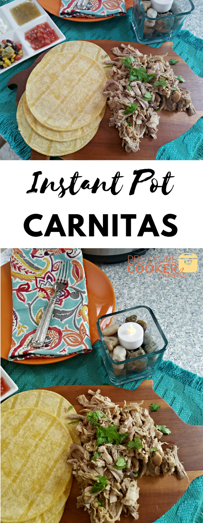 Instant Pot Carnitas are mouthwatering and easy! This Instant Pot Recipe is a great way to use a pork roast easily without turning on your oven! A fun Mexican inspired dish the whole family loves!