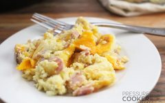Instant Pot Breakfast Casserole with Ham and Egg