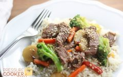 Instant Pot Beef & Veggies Over Rice (Homemade Chinese Food)