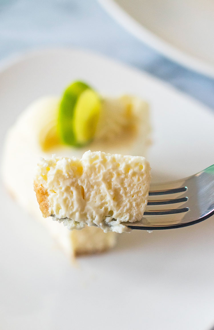 Bite of Instant Pot Key Lime Cheesecake