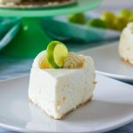 Slice of Instant Pot Key Lime Cheesecake