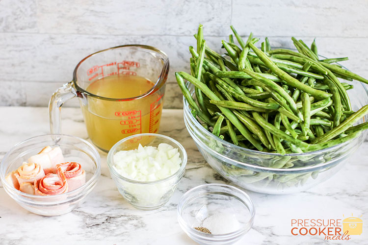 Instant Pot Southern Green Beans ingredients