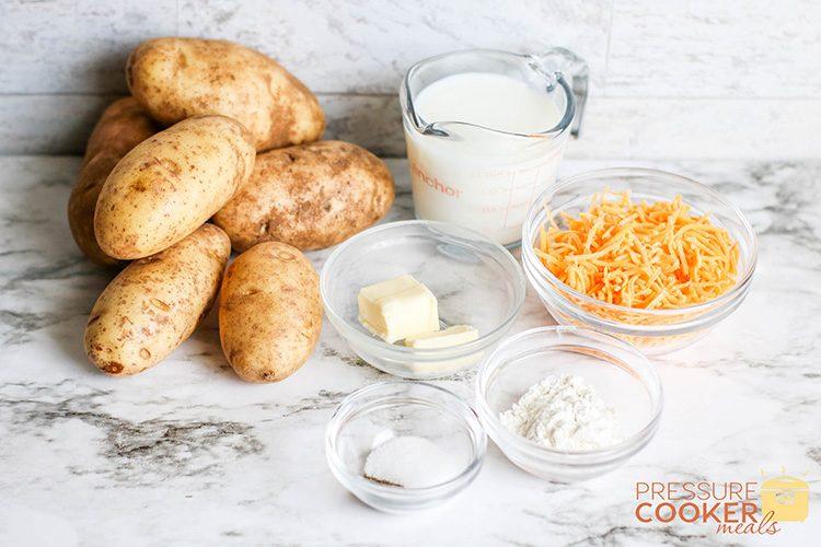 Instant Pot Au Gratin Potatoes Recipe ingredients